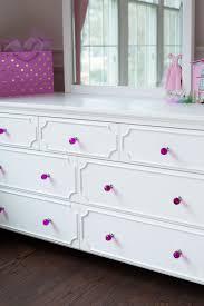 Black Dresser Pink Drawers by 3 Over 4 Drawer Dresser White Craft Bedroom Furniture