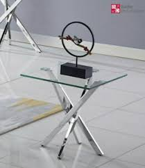 designer beistelltisch edelstahl glastisch tisch edel