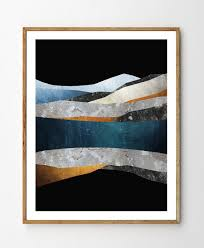 Arctic Reflections Abstract Landscape Wall Art Mountain Print