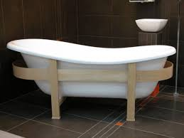 freistehende luxus badewanne jugendstil toscane 1675mm weiß holzgestell hell antik stil badezimmer