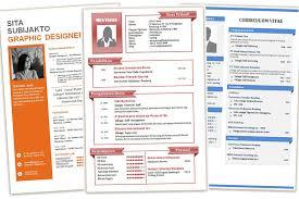 Contoh Cv Desain Menarik Dan Kreatif Format Doc Word Part 1
