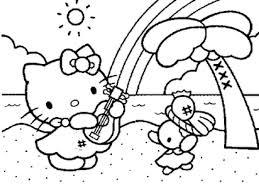 Hello Kitty Christmas Coloring