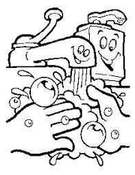 Hand Washing Keep Your Clean Coloring Pages