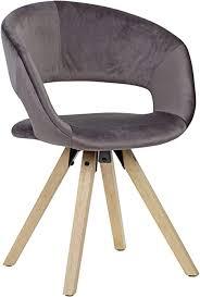 finebuy design esszimmerstuhl samt modern küchenstuhl mit lehne stuhl mit holzfüßen polsterstuhl maximalbelastbarkeit 110 kg