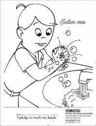 Wash Your Hands Coloring Pages 2
