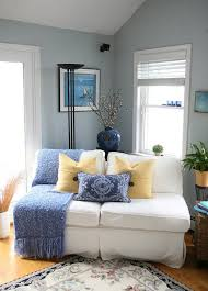 Blue Yellow Why Gray Walls Living Room Joanne And Brians Cottage