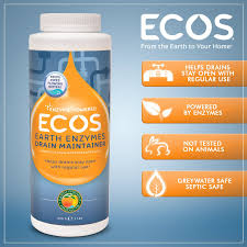 Menards Septic Drain Tile by Amazon Com Ecos Earth Enzymes Drain Maintainer Maintains Free