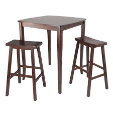 3 Piece Inglewood Set High Table With Saddle Seat Bar Stools ...