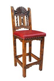 Amazon.com: San Juan Southwestern Bar Stool, Leather, Counter Height ...