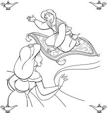 Aladdin Offers A Ride Coloring Page