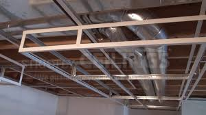 build basic suspended ceiling drops drop ceilings installation