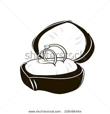 Two wedding rings in the box A children s sketch