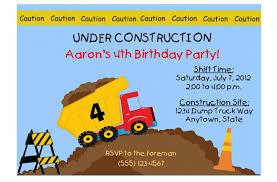 100 Truck Birthday Invitations 14 Printable Many Fun Themes 1St