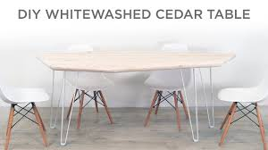 How To Whitewash Cedar And Make A Modern Dining Table Cctab1139so4tldwwsv Cottage Whitewashed Ding Table Windsor Kitchen Farmhouse Ding Room Table Makeover Whitewash Top And White Chalk White Washed Room Chairs Ethan Allen Tables And Wash With Metal Rustic Wooden Set Of Six Aged With Fabric Seat Whosale Priced Amazoncom Acme Fniture 74685 Rosetta Ii Trestle Washed Chairs Dreamselectricco 38quot In How To Whitewash Cedar Make A Modern