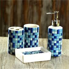 Beach Glass Bath Accessories by Wondrous Blue Glass Bathroom Accessories U2013 Parsmfg Com