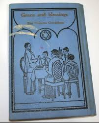 1934 Jewish Pocket Prayer Book Grace Blessings Hebrew English Vtg Birkat Hamazon