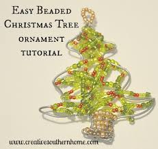 Beaded Christmas Tree Ornament Tutorial An Easy Fun Project To Do While Watching Movies