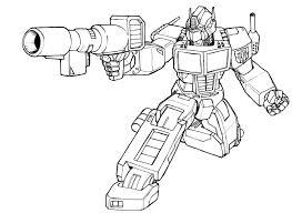 Coloriage Transformer Optimus Prime