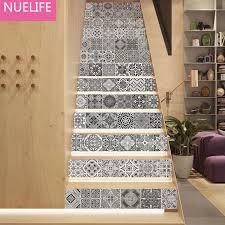kreative schwarz und weiß tun alten retro fliesen muster treppe aufkleber wohnzimmer schlafzimmer dekorative wandaufkleber malerei