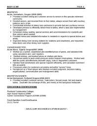 Waitress Resume Samples Cocktail Server Sample Templates Canada