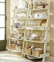 Ladder Rack And Decoration Wall Shelving Kitchen Glassware