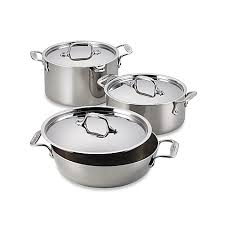 Bed Bath Beyond Pressure Cooker by All Clad Stainless Steel Covered Casseroles Bed Bath U0026 Beyond