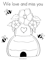 Printable Miss You Coloring Pages