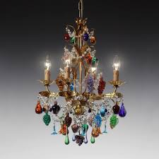 traditional chandelier murano glass wrought iron