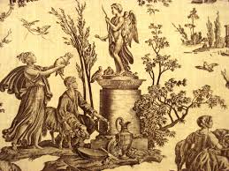 the emblematic toile de jouy fabric