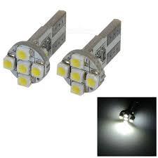 0 5w 12v 56 lumen 7x3528 smd led car white light bulb pair
