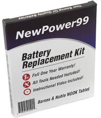 Barnes & Noble NOOK Tablet Battery Replacement Kit Extended Life
