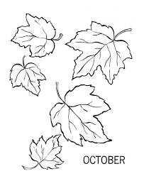 Cool Design Fall Leaf Coloring Pages Autumn Or October Leaves Page