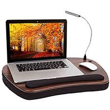 amazon com sofia sam memory foam lap desk with usb light 5035