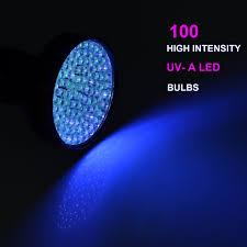 KMASHI UV Flashlight 100 LED Light Pet Urine Stain Detector Blacklight
