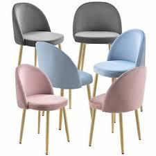 en casa 2x stühle lehnstuhl esszimmer stuhl polsterstuhl samt sessel stuhlset