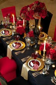 Powerful Red And Black Wedding Decor Ideas