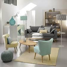 canape maisons du monde canapé convertible 3 places en tissu gris clair salons living