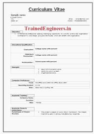 Fresher Mechanical Engineer Resume Format Alanscrapleftbehind Latest Rh Mohwerazb Com Template Engineering