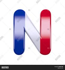 French Flag Letter N Image Photo Free Trial Bigstock