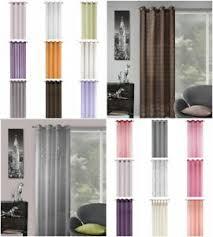 details zu gardinen 140x245 ösengardinen schlaufenschal wohnzimmer braun violett rosa creme