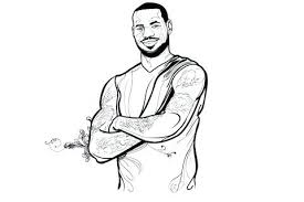 Cheap Lebron James Coloring Pages New How To Draw Dunking Apps