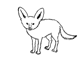 Red Fox Coloring Page Sit Online Super