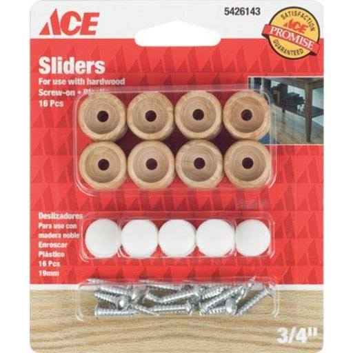Ace Round Sliders - 3/4 in