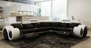 canapé angle polyuréthane deco in canape d angle cuir noir et blanc relax