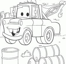 Beautiful Coloring Disney Cars Mater Pages About Tow Free Home