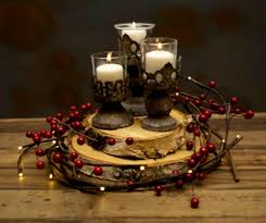 1 Diy Natural Berry Wreath Rustic Christmas Table Decorations Centerpiece