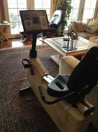 Recumbent Bike Desk Chair by Life Fitness Recumbent Bike 5500 Ebay