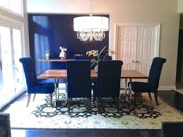 Blue Living Room Chairs Dining Set With Tall Back Light Leather White Table Black Navy