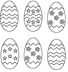 Easter Egg Printable Coloring Pages 5 In