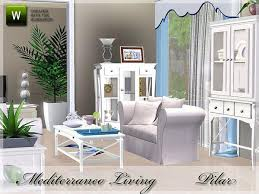 New Delivery Of Mediterranean Theme Found In TSR Category Sims 3 Living Room Sets